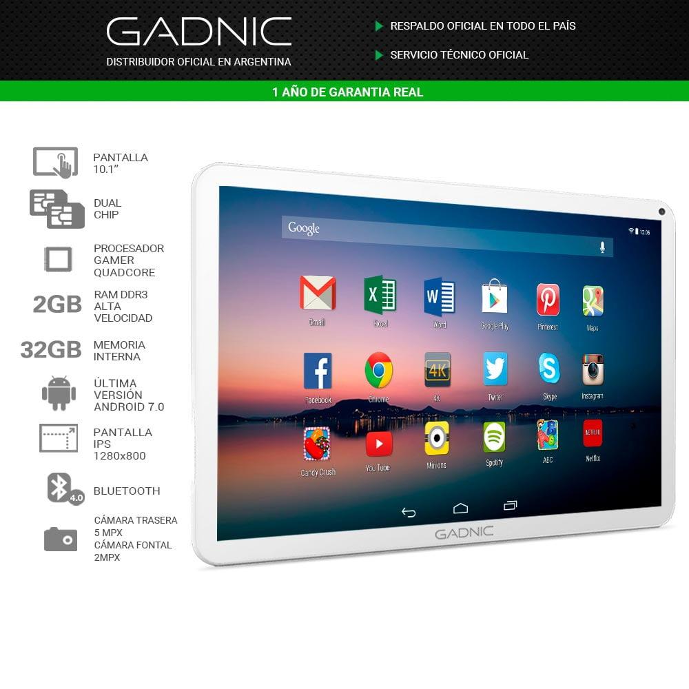 """TABLET GADNIC CELULAR 10.1"""" QUADCORE 32GB"""