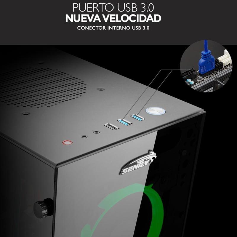 GABINETE K20 4297-SF VIDRIO TEMPLADO 4 FAN RGB (4297-SF)