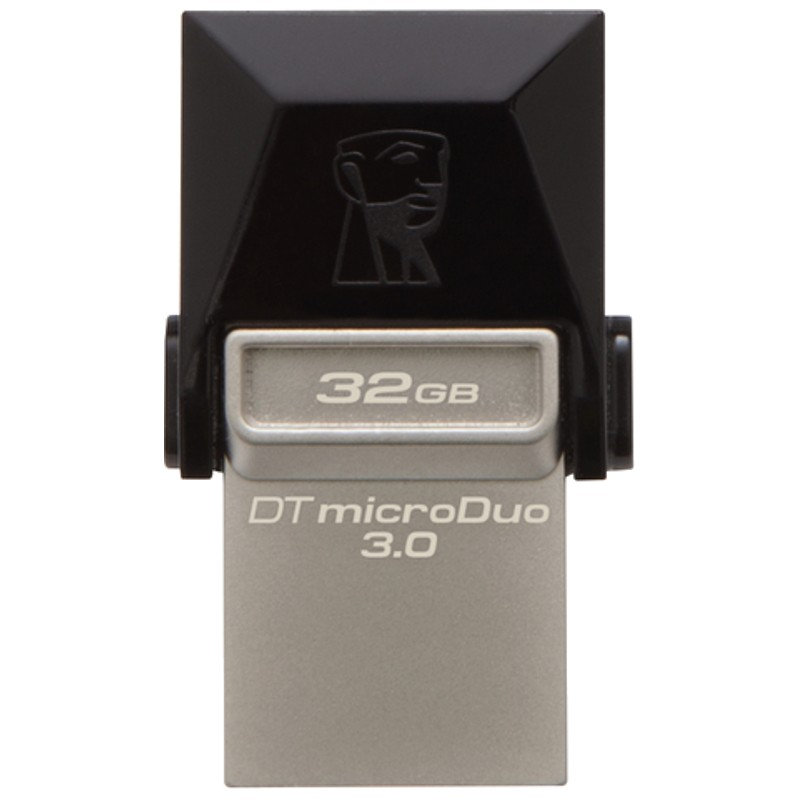 PENDRIVE 32GB 3.0 DT MICRODUO NEGRO KINGSTON (DTDUO3/32GB)