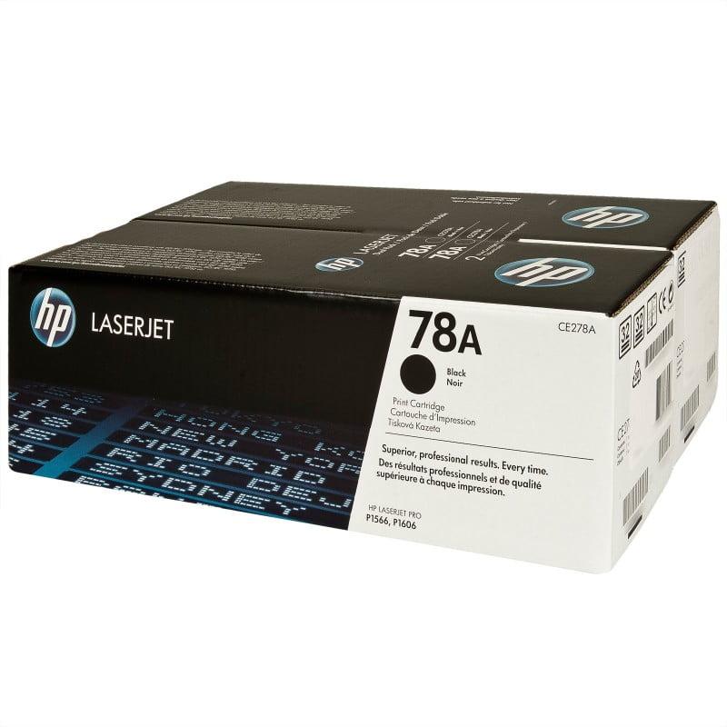 TONER ORIGINAL HP 78A NEGRO LASERJET PACK DOBLE (CE278AD)