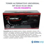 TONER ALTERNATIVO YELLOW HP CC532A CE412A CF382A