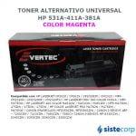 TONER ALTERNATIVO MAGENTA HP CC533A CE413A CF383A