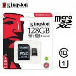 MICRO SD 128GB KINGSTON XC CANVAS C/ADAPTADOR