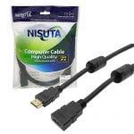 CABLE HDMI ALARGUE 3MTS FILTRO INDUCTIVO NS-CAHDMI3A NISUTA