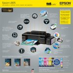 IMPRESORA EPSON INKJET COLOR L805 ECO TANK WI-FI CD/DVD