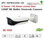 CAMARA IPC SMART BULLET 12MPX 4K ULTRA HD H.265 IVS WDR ZOOM 4X MARCA DAHUA (IPC-HFW81230EP-ZHE)