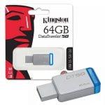 PENDRIVE 64GB KINGSTON DT50 3.0 METALICO