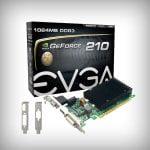 PLACA DE VIDEO EVGA 1GB GF 210 DDR3 DVI-VGA-HDMI PASIVO LP