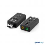 ADAPTADOR AGREGA CONECTOR AUDIO + MICROFONO POR USB NETMAK (NM-SU8CH)