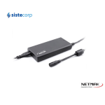 CARGADOR NOTEBOOK 65W VOLTAJE AUTOMATICO INCLUYE PIN SMART + USB HASTA 24V SLIM NM-1284 NETMAK