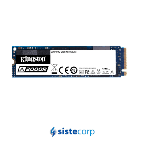 DISCO SOLIDO SSD M.2 1TB KINGSTON A2000 NVME (SA2000M8/1000G)