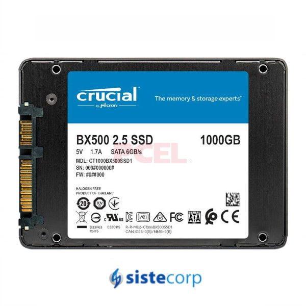 DISCOS SOLIDOS SSD 1TB CRUCIAL BX500 SATA 2.5(CT1000BX500SSD1)
